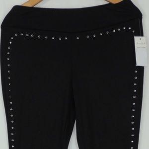 Ultra Flirt Pants - ultra flirt shine beads black leggings